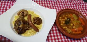 Couscous 4 viandes semoule bouillon légumes -M- Traiteur Toulon Var